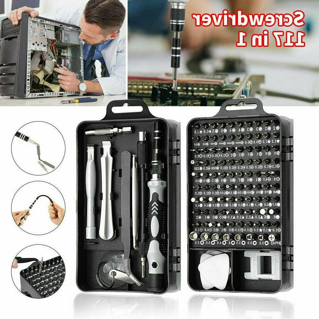 117 in 1 Magnetic Precision Screwdriver Set Computer Pc Phon