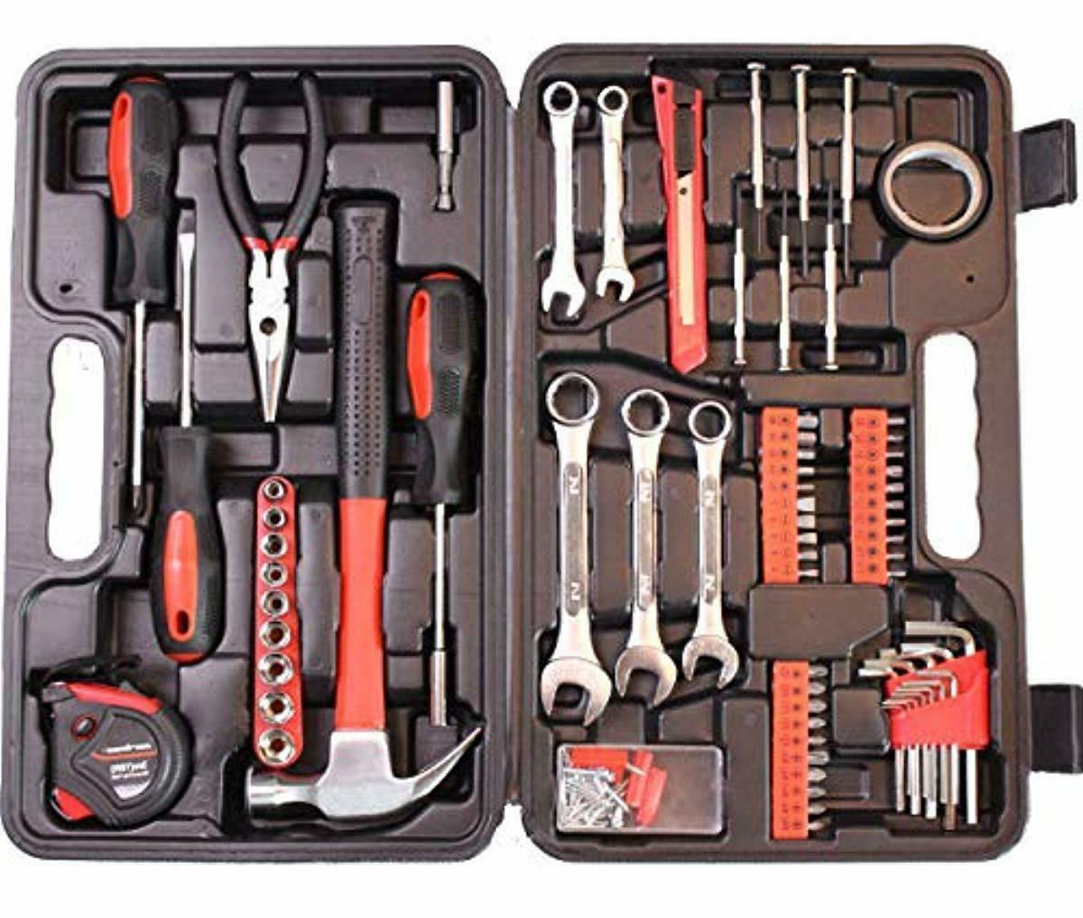 general household hand tool kit with plastic