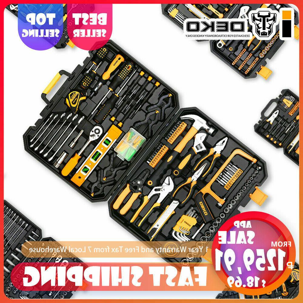 168 Pcs Hand Tool Set General Household Hand Tool Kit with P