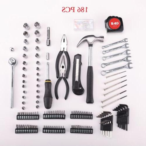 186 pc Tool & Repair Kit SAE Metric