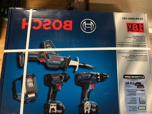 18v cordless lithium ion 4 tool combo