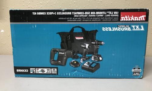 Makita 18V LXT® Lithium-Ion Sub-Compact Combo Kit CX300RB
