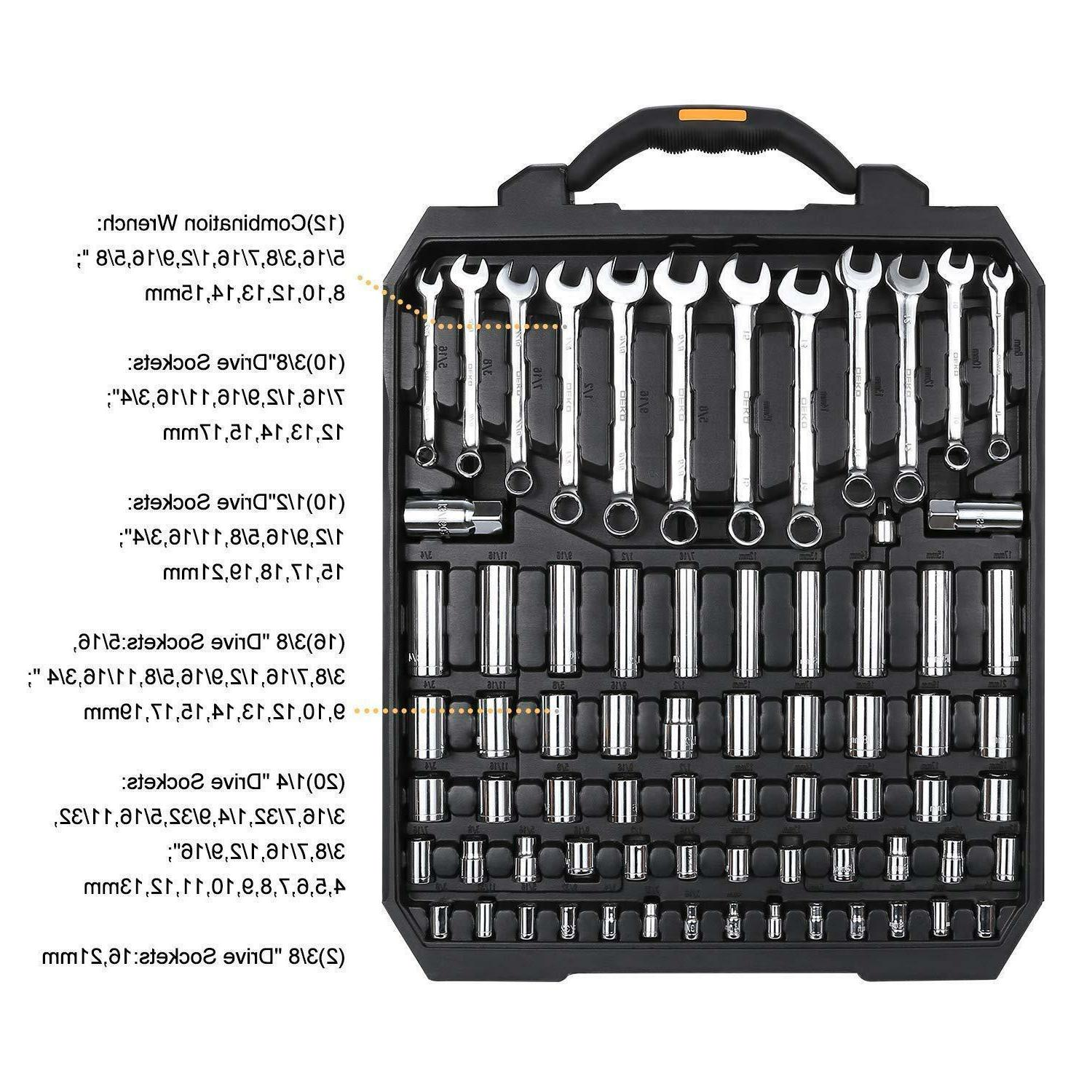 192 Piece Set Socket Set Kit