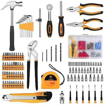 196 Piece Set General Household Hand Kit with Hammer