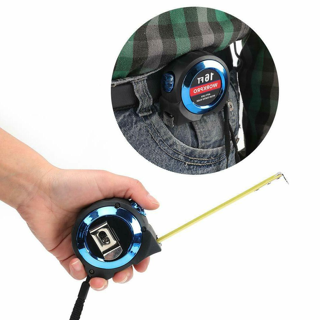 "WORKPRO 2-piece Tape Measure Set Easy-read Fractions to 1/32"" - and 16Ft"