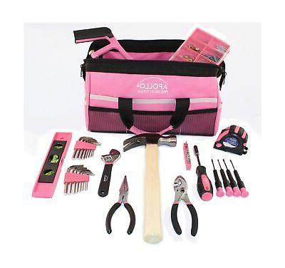 Apollo Household Tool a Soft-Sided Bag Pink