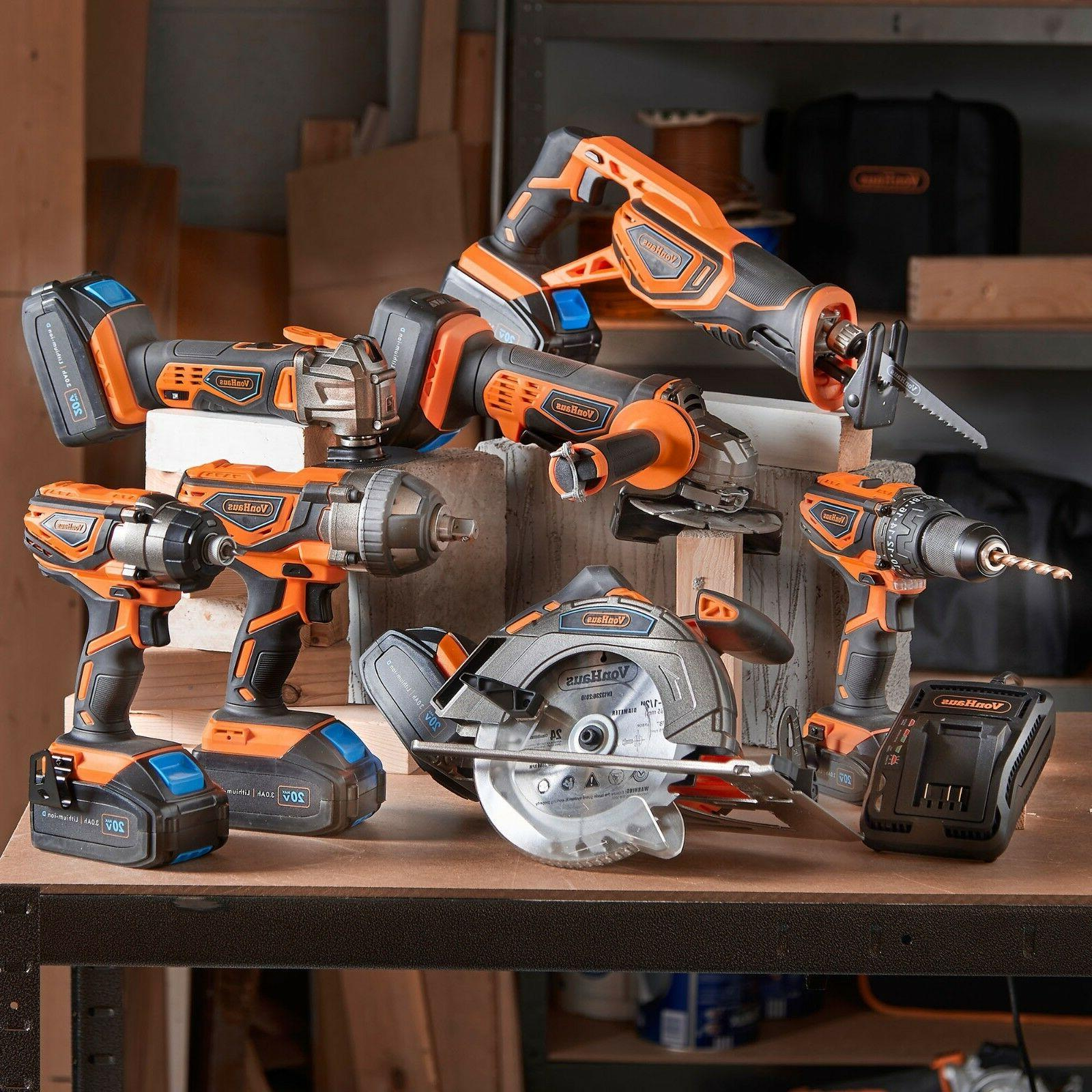 VonHaus 20V Cordless 2-TooI Drill Kit with & Charger