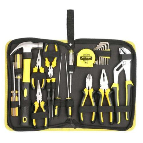 DOWELL 24 Pieces Homeowner Tool Set, Home Repair Hand Kit wi