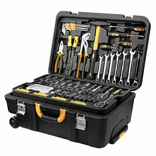 DEKO 258PCS Tool Set Mechanic Household DIY Essential Tools