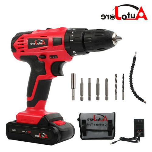 """3/8"""" cordless drill kit  driver drill with li-ion battery an"""