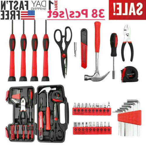 38Pcs Home Kit Household Basic Starter Box Scissors
