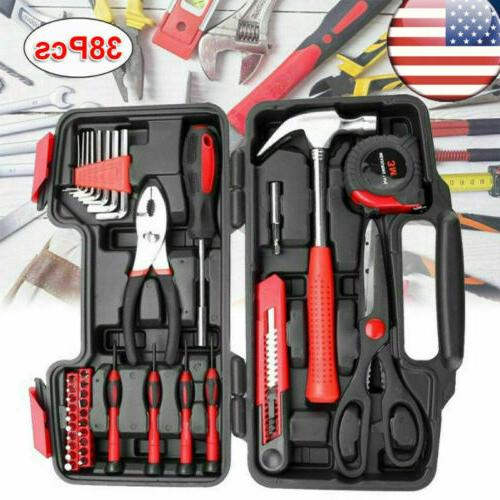 38pcs home tool kit household basic hand