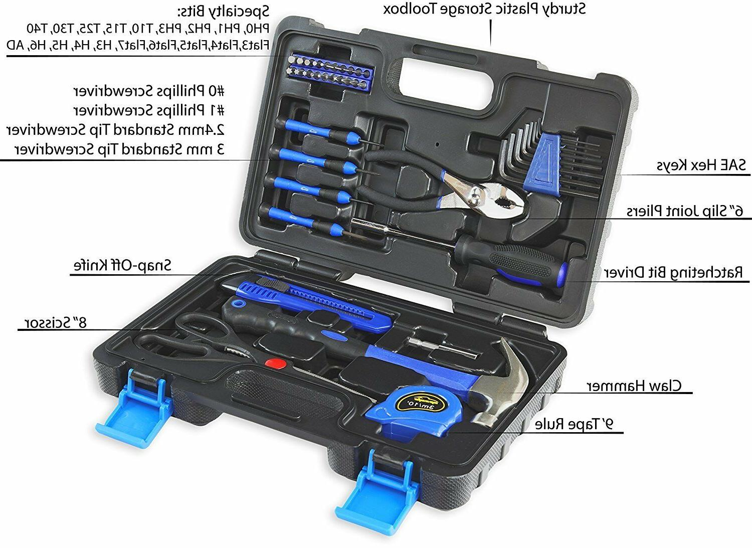 General Household Hand Tool Kit with Case