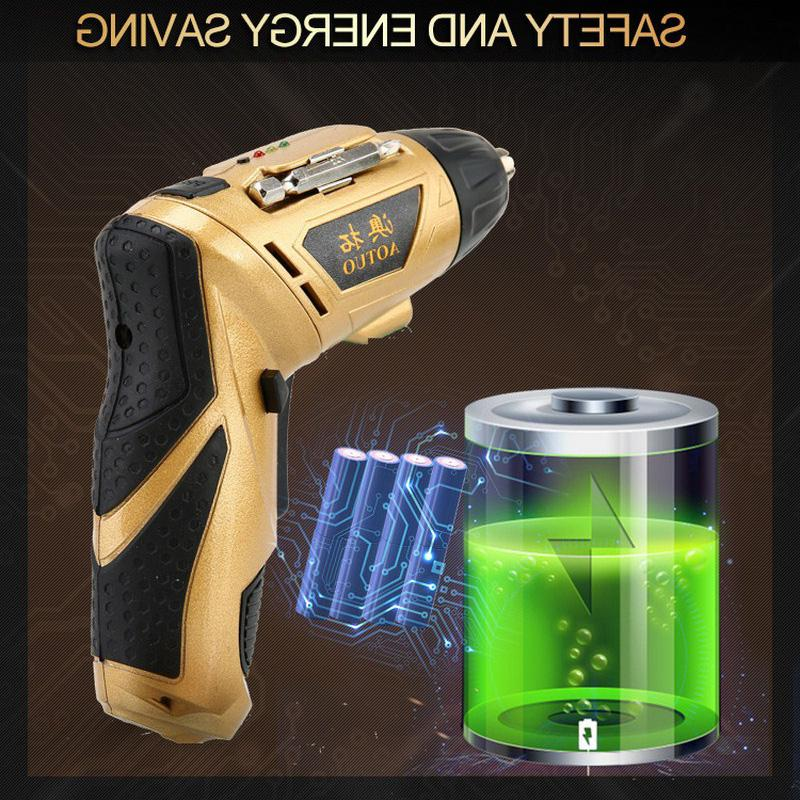45 1 <font><b>Screwdriver</b></font> <font><b>Power</b></font> 180 Degree Rechargeable Electric With