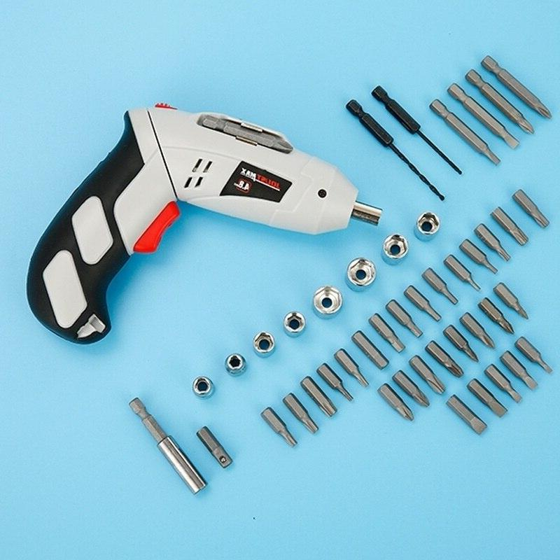 45 Portable Electric Cordless <font><b>Screwdriver</b></font> 4.8V Drill <font><b>Tools</b></font> with LED Screws Sleeves Case