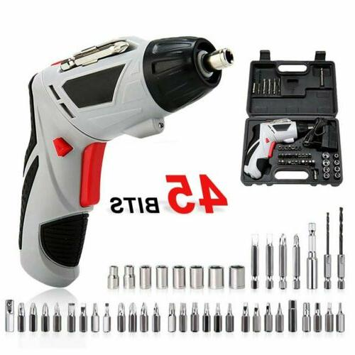 45Pc Multifunctional Cordless Electric Screwdriver Power Tool