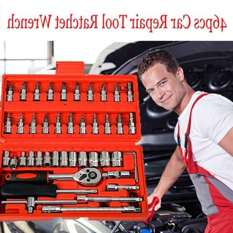 46pc 1 4 car repair tool set