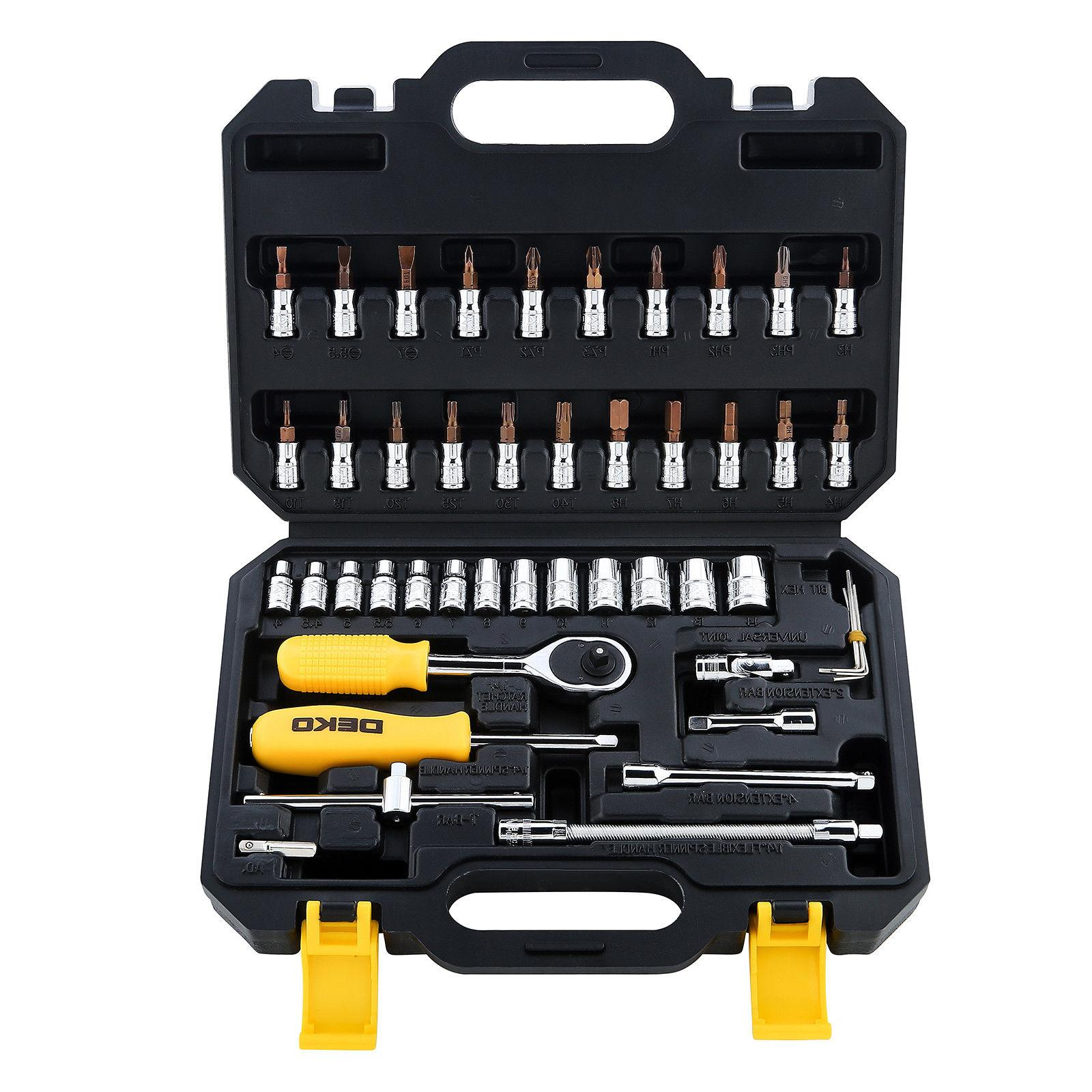46pcs Screwdriver Sockets DR Tool Kit