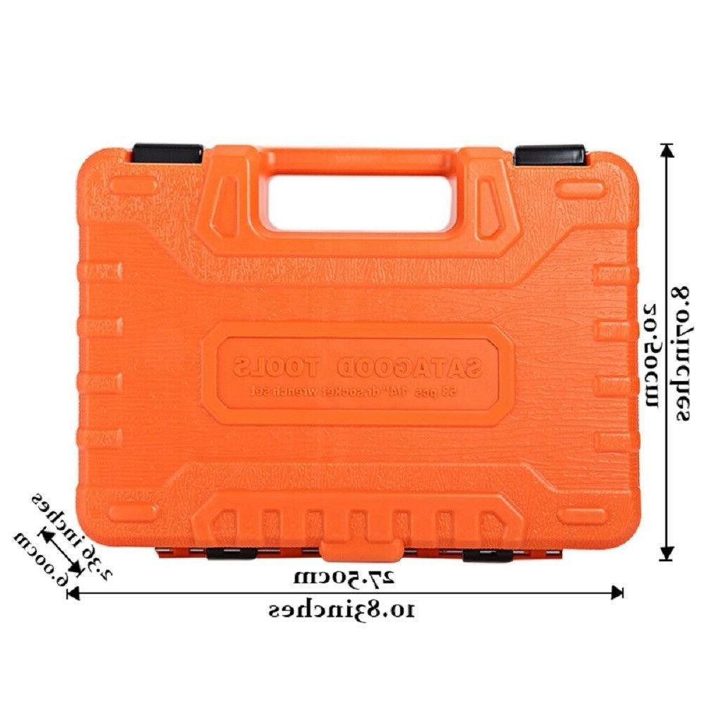 53Pcs Repair Tool Case Wrench Sleeve Universal US