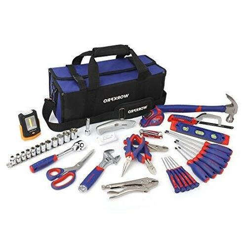WORKPRO 54-Piece Home Repair Tool Kit - Household Tool Set f