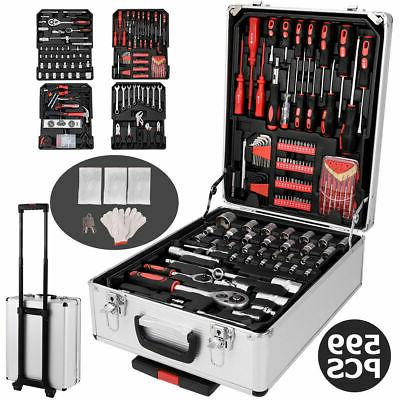 599 PCS Hand Tool Set Mechanics Kit Wrenches Socket Toolbox