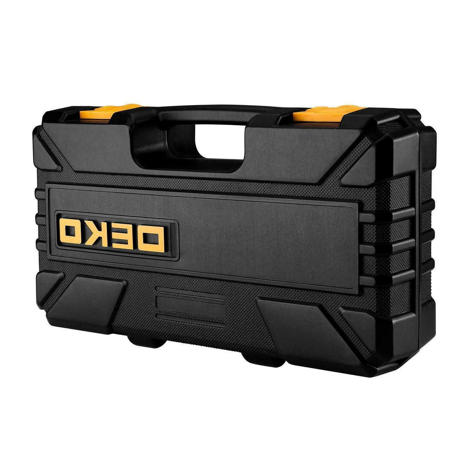 DEKO 62PC Household Set Household Hand Tool Case