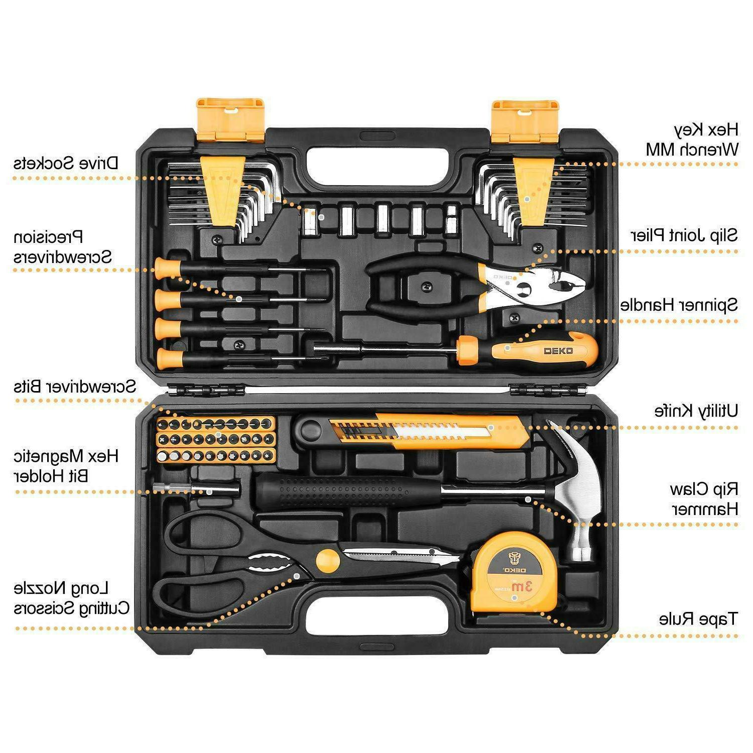 DEKO Household Set General Hand Tool Kit Case