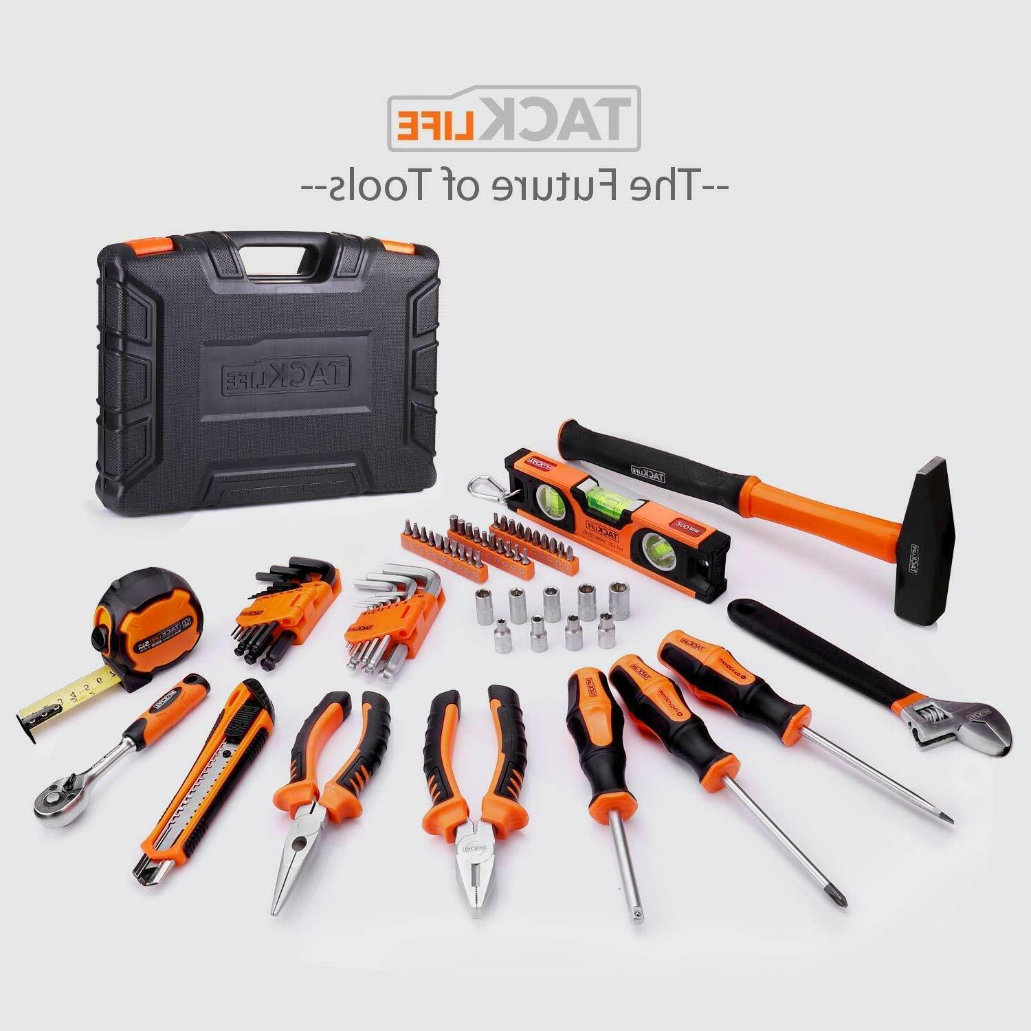 Tacklife Kit Home Hand Tool Set with Tool Box Stor