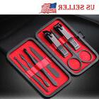 7 Pcs Stainless Steel Nail Clipper Set Grooming Kit Tool Cas