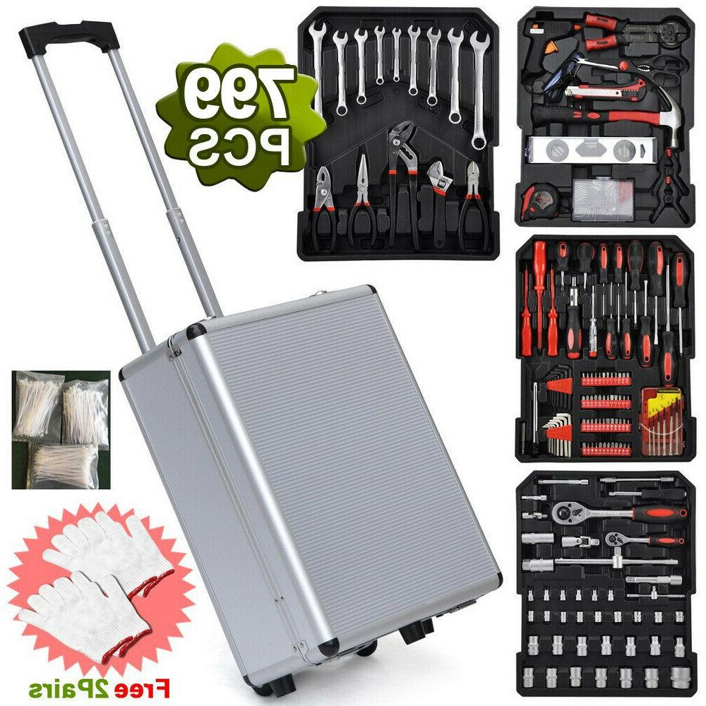 799Pcs Hand Tool Set Mechanics Kit Metric Ratchet Wrench Set