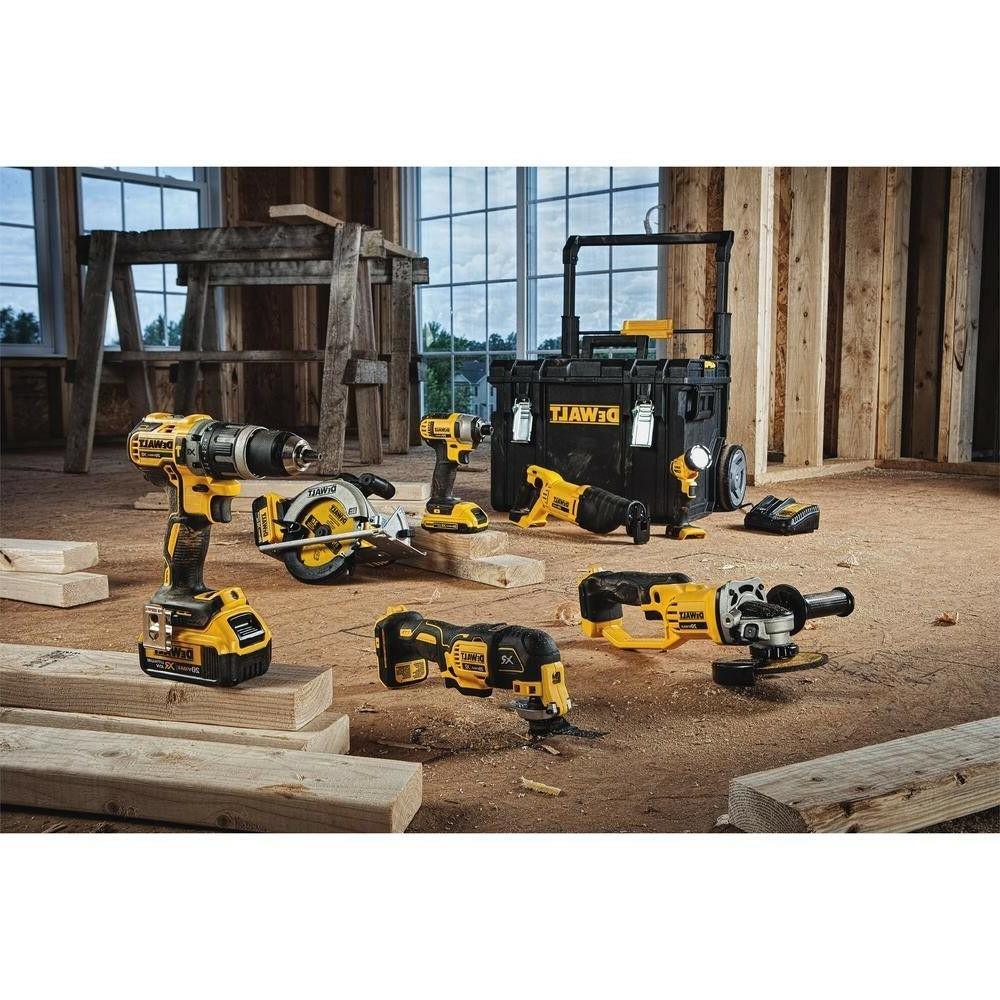 Dewalt Ion Cordless Combo Kit Set Power Tools Box Drill Driver