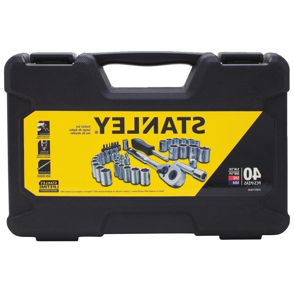 43ffa4498 Stanley Mechanics Tool Set 40 Piece Wrenches New Case Kit So