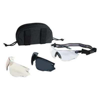 Ballistic Safety Glasses Kit,Clear Smoke, Scratch-Resistant