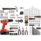 Black & Decker 18-Volt NiCad Drill and 133 pieces Home Proje