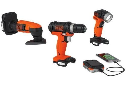 Black and 12 Volt Cordless Tool