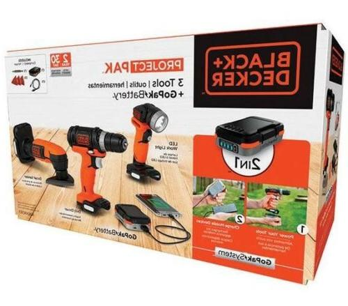 black and decker gopak 12 volt cordless