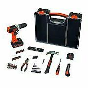 BLACK+DECKER 20-Volt MAX Drill Project Kit with 53-Pieces an