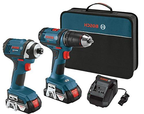 Bosch Tough 18V Cordless Lithium-Ion Drill Driver Impact Combo Kit