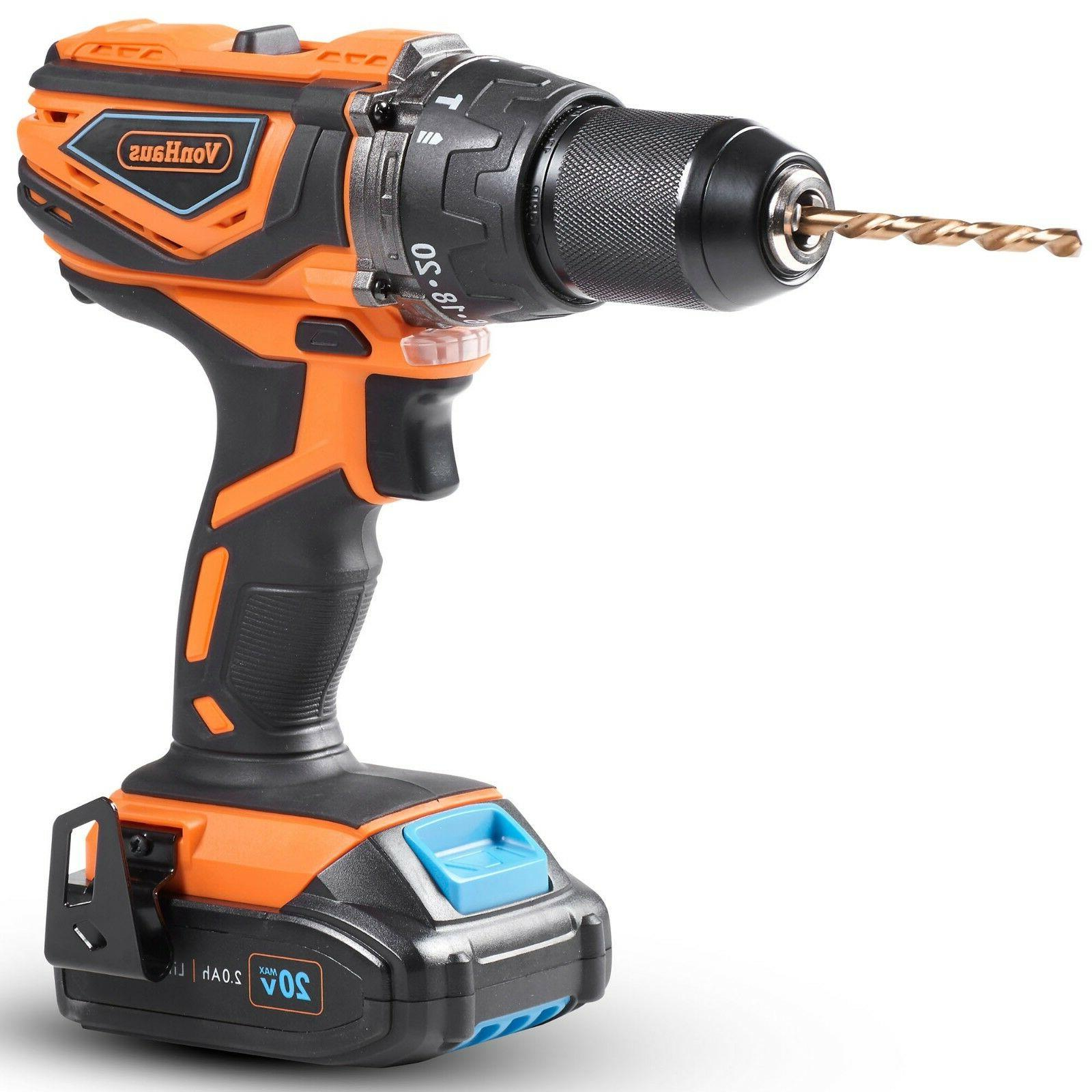 "VonHaus Cordless 1/2""with Drill, & Charger Kit 20V"