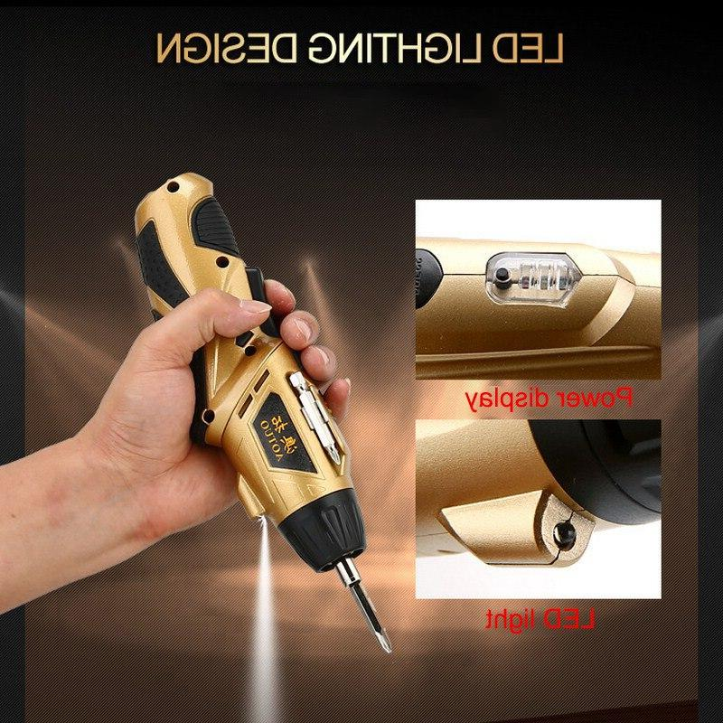 Cordless Screwdriver Battery Lithium-Ion <font><b>Drill</b></font> 32 <font><b>Driver</b></font> 180 Degree Rotation
