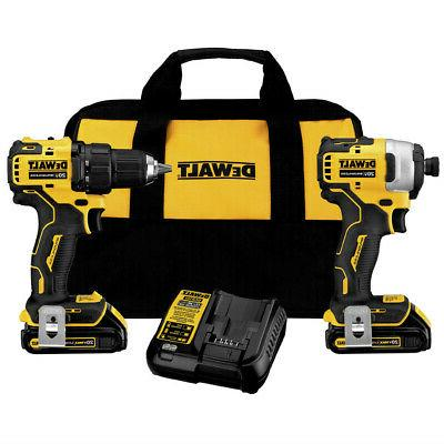 DEWALT DCK278C2 ATOMIC MAX Brushless Combo Kit New