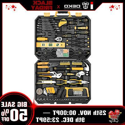 DEKO 168 Pcs Hand Tool Set General Household Kit with Wrench