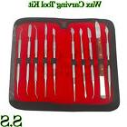 Dental Lab Stainless Steel Kit Wax Carving Tool Set Surgical
