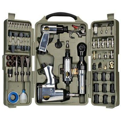 Trades Pro 71 Piece DIY Starter Air Tool Accessories Kit wit