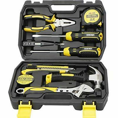 DOWELL 10 Piece Small Tool Kit,Mini Portable Tool Set,Home R