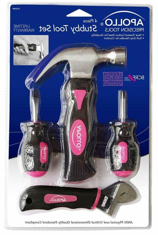 Apollo Tool Set in Pink, 4-Piece,