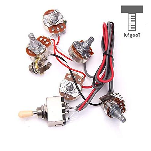 Sala-Fnt Wiring Harness Kit 2V2T Pot Jack Switch for Electric Guitar Parts