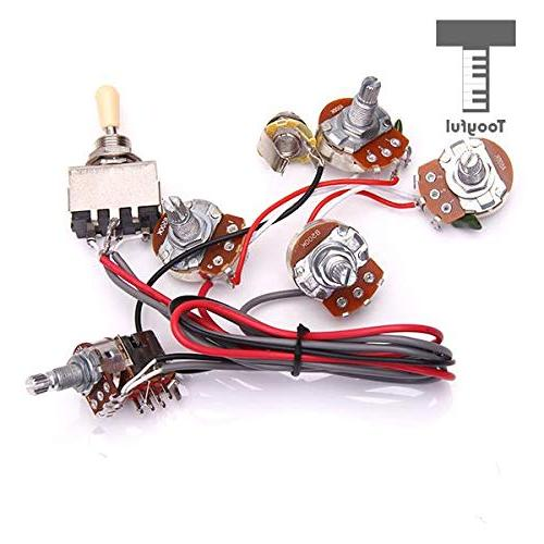Sala-Fnt 1Pc Electric Guitar Wiring Harness Kit 2V2T Switch Les Electric Guitar Parts