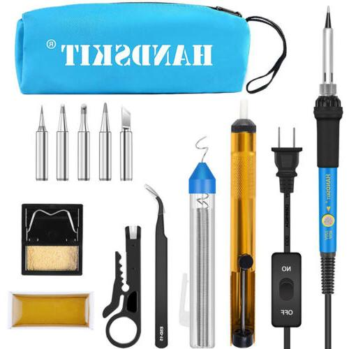 ELECTRIC SOLDERING IRON KIT 60W Adjustable Temperature Weldi