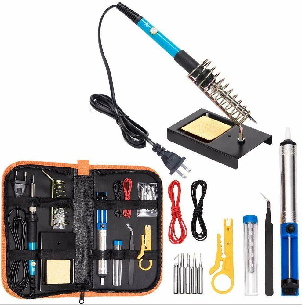electric soldering iron tool kit 110v 60w